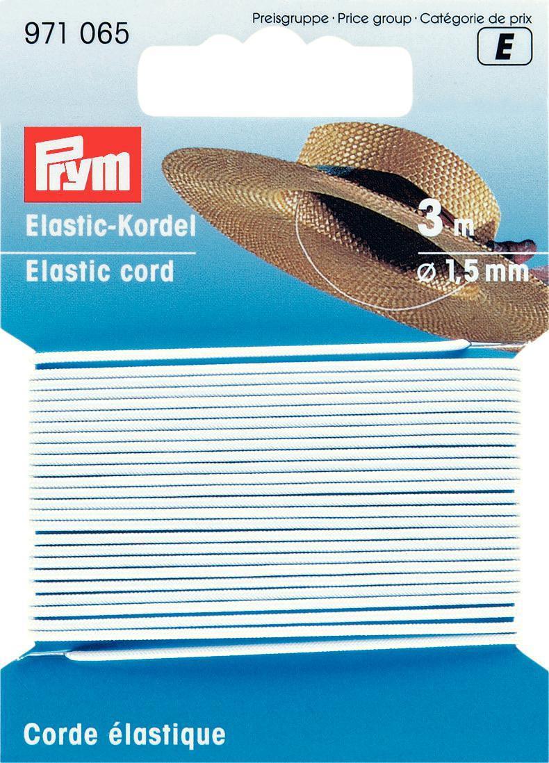 Prym 3m Elastic Kordel Gummiband 1,5 mm weiß