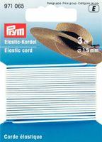 Prym 3m Elastic Kordel Gummiband 1,5 mm weiß 001