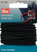 Prym Elastic Kordel Band Gummiband 2,5 mm schwarz