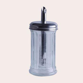 Zuckerstreuer Glas H:18cm