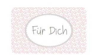 "Mea Living Brettchen ""Für Dich"" Melamin 23x14cm"