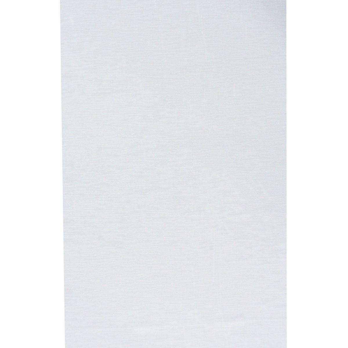Gardinenstoff Paneele Meterware uni weiß 60cm Breite