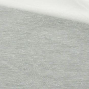 Gardinenstoff Stores Batist uni wollweiß halb-transparent 3m Höhe – Bild 1