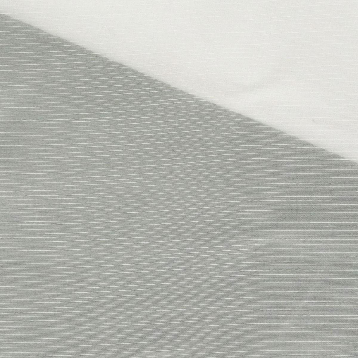 Gardinenstoff Stores Voile einfarbig creme feine Streifen transparent 2,6m Höhe