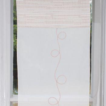 Design Miniflächen Scheiben Paneelen Set 3 Stück creme braun Stickerei 30cm Breite – Bild 2