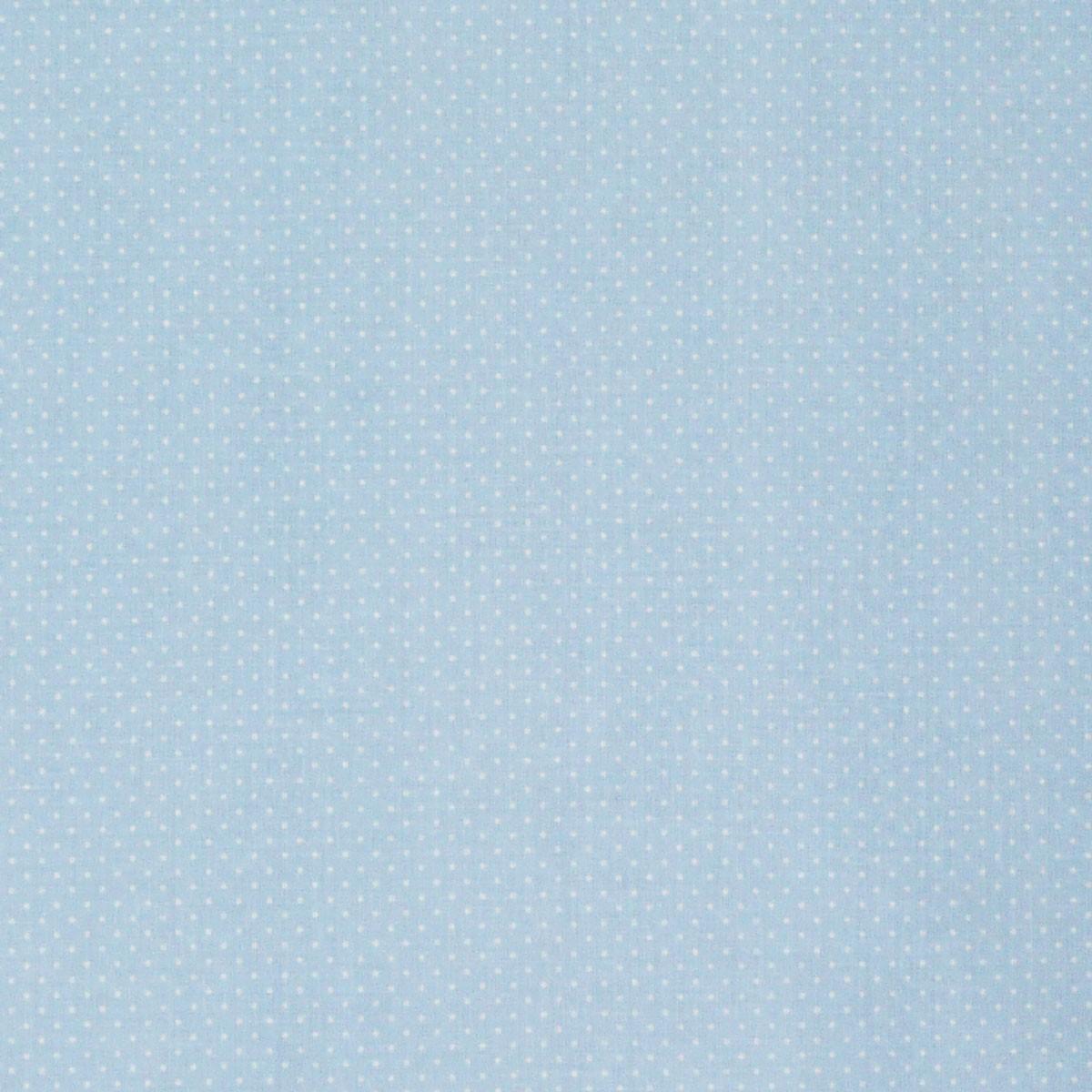 Baumwollstoff Punkte mini Ø 1mm babyblau weiß