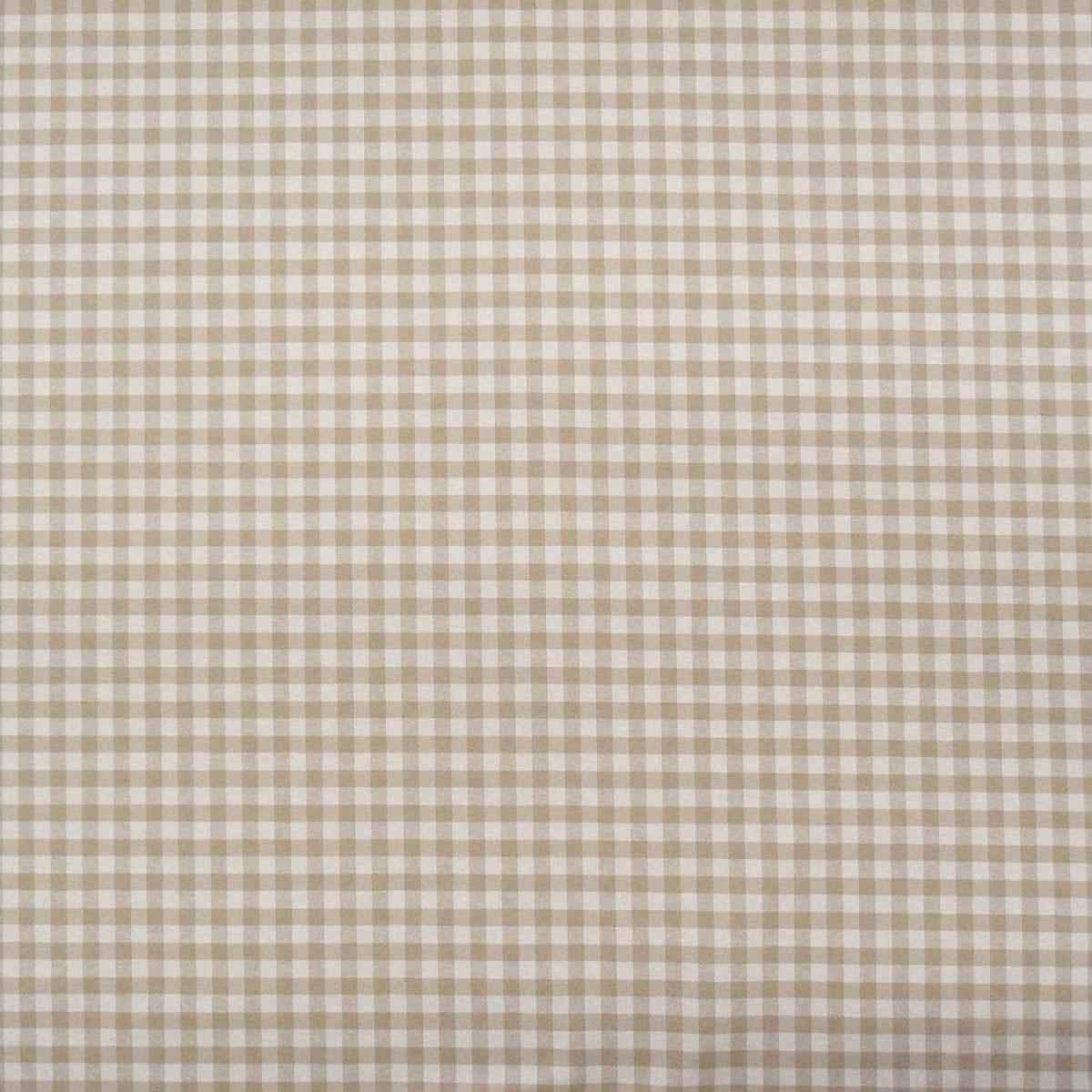 Dekostoff Dobby Landhausstoff Karostoff Meterware kariert weiß beige ca. 1,3x1,3cm 1,40m breit