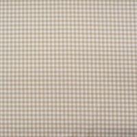 Gardinenstoff Stoff Dekostoff Meterware kariert 1,4cm weiß beige  001