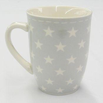 "Mea Living Kaffee Tasse Becher ""Sterne grau"""