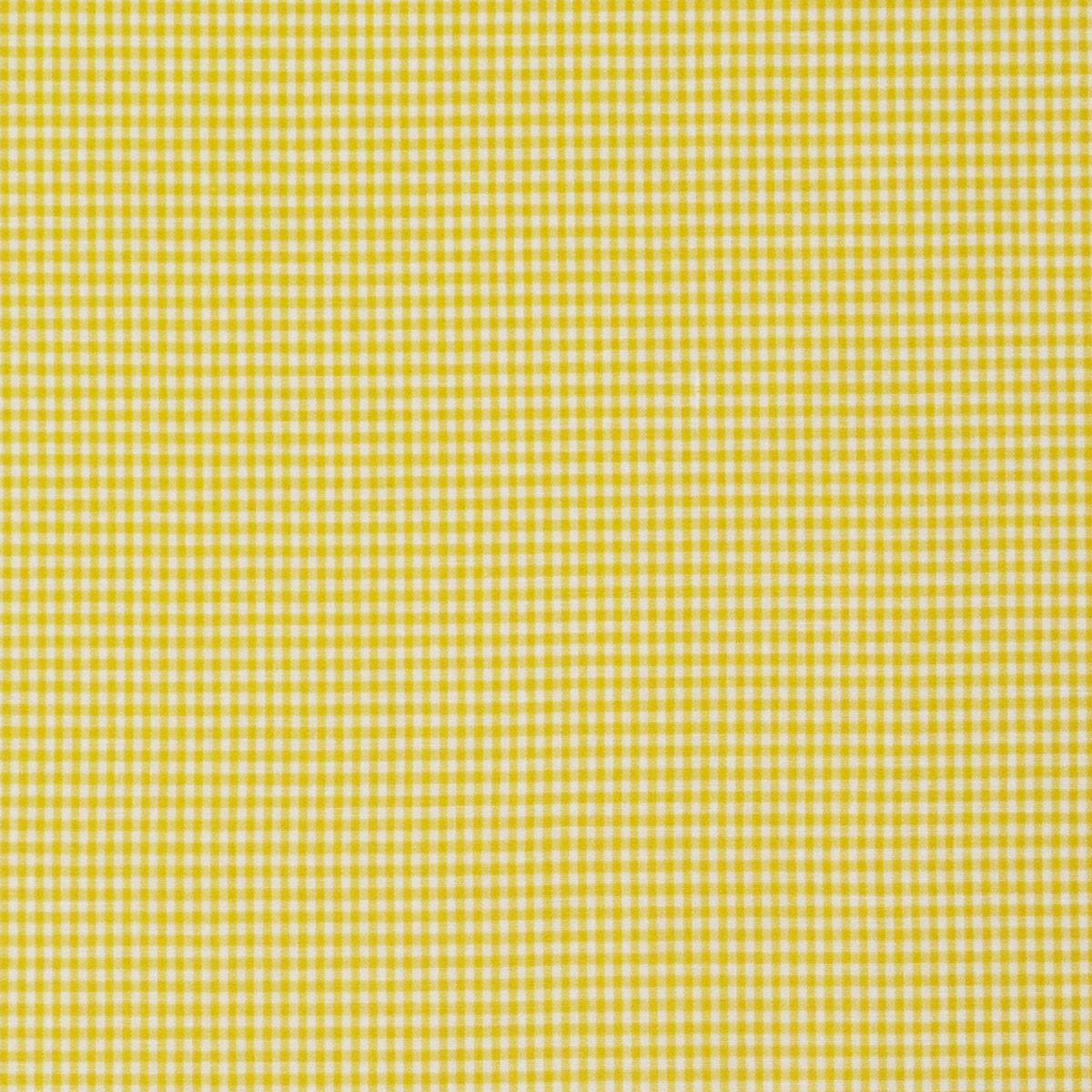 Baumwollstoff kariert weiß gelb 2mm
