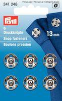 Prym Annäh-Druckknöpfe MS silberfarbig 13 mm