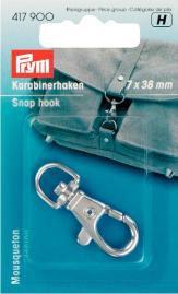 Prym Karabinerhaken 7/38mm silber