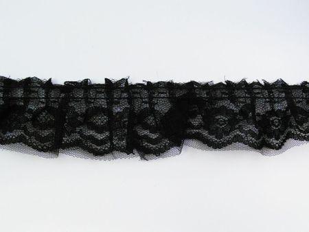 Spitzenband mit Tüll Breite: 3,5cm schwarz