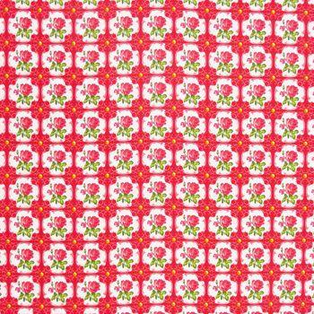 Baumwollstoff AMBER Rosen rot Kreativstoff  – Bild 1