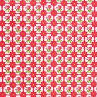 Baumwollstoff AMBER Rosen rot Kreativstoff