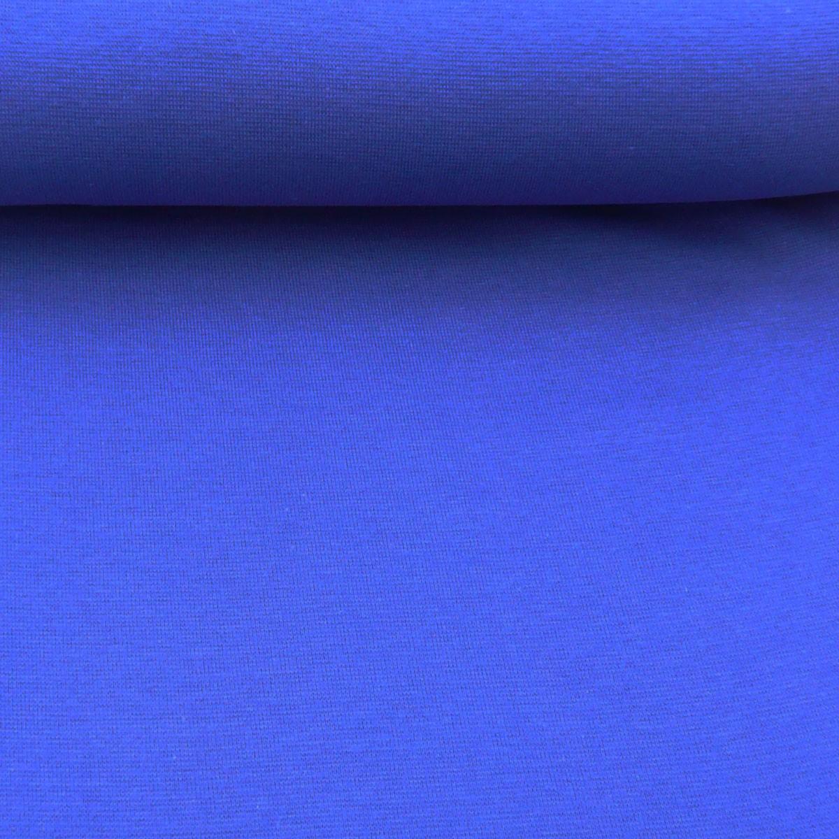 Kreativstoff Strickschlauch Bündchenstoff fein blau royalblau 37cm Breite