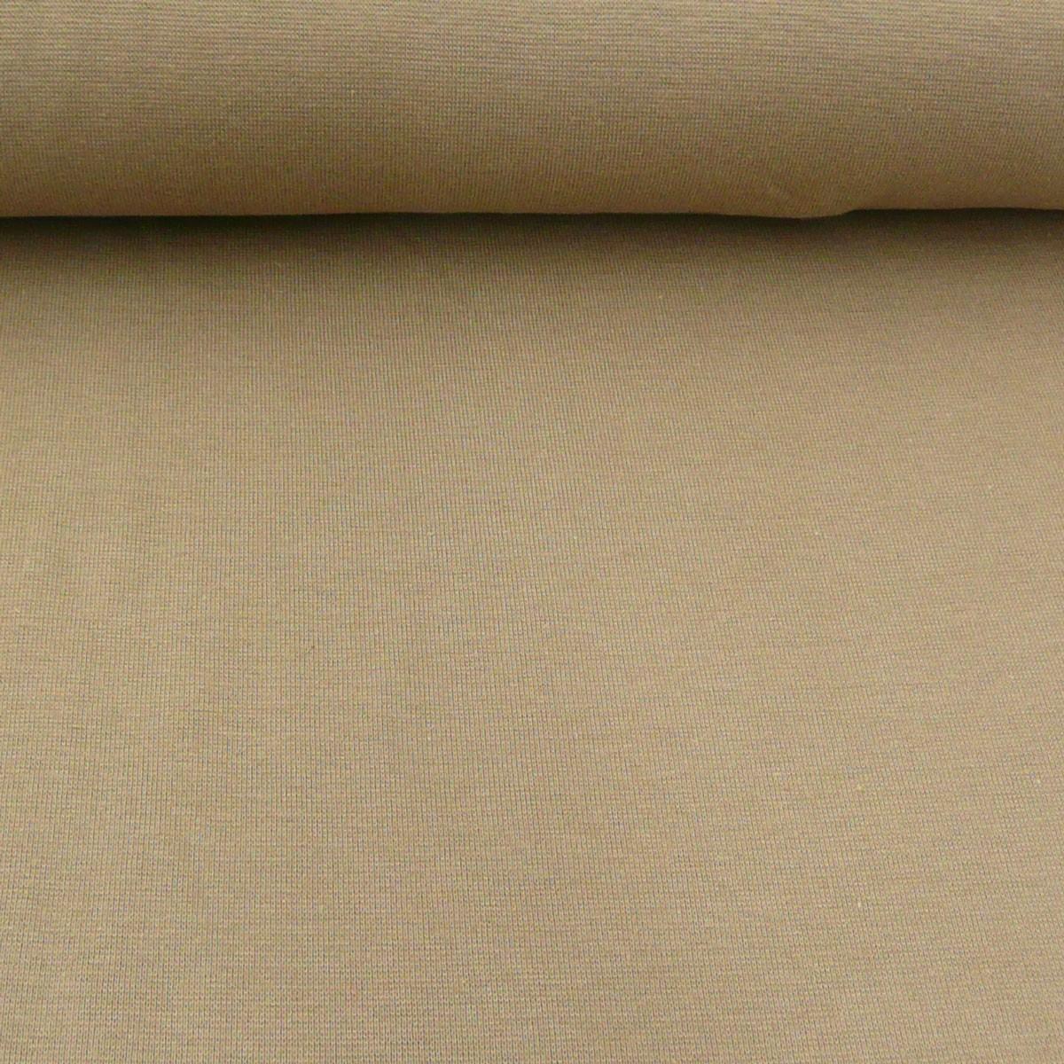 Kreativstoff Strickschlauch Bündchenstoff fein braun camel 37cm Breite