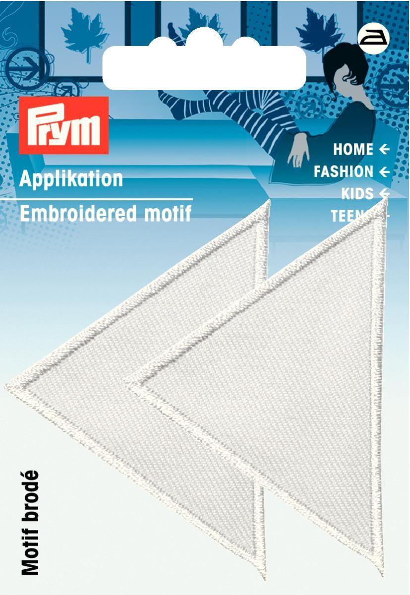 Prym Applikation Dreieck weiß 6x5cm