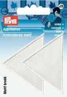 Prym Applikation Dreieick weiß 6x5cm