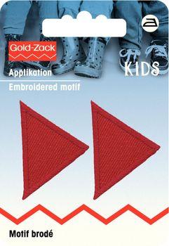 Prym Applikation Dreieck rot 2 Stück 3,5x2,5cm