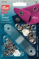 Prym Jersey Druckknöpfe Ø10mm 10 Stück inkl. Werkzeug