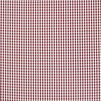 Gardinenstoff Stoff Dekostoff Meterware kariert dunkelrot weiß ca. 0,5cm 1,6m Breite – Bild 1