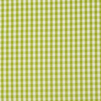 Gardinenstoff Stoff Dekostoff Meterware kariert apfelgrün weiß Karo1cm  – Bild 1