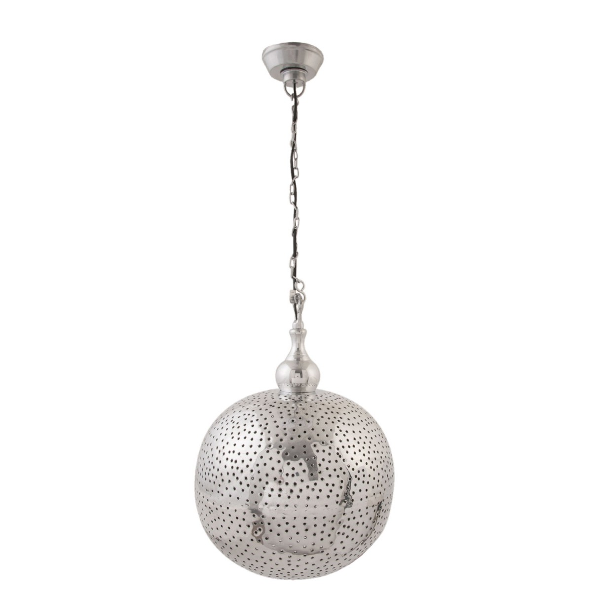 clayre eef h ngelampe lampe silber nickel l nge 145cm. Black Bedroom Furniture Sets. Home Design Ideas