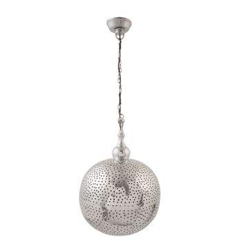 Clayre & Eef Hängelampe Lampe silber Nickel Länge:145cm