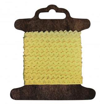 Baumwoll-Bordüre Jasmina 1cm SB-Rolle 3m gelb