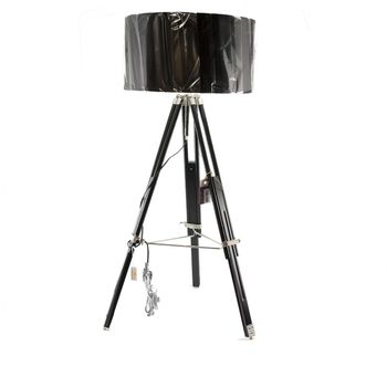 Clayre & Eef Stehlampe mit Schirm Holz Metall 130x52cm E14 max.25w