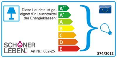Clayre & Eef Stehlampe mit Schirm Holz Metall 130x52cm E14 max.25w – Bild 2