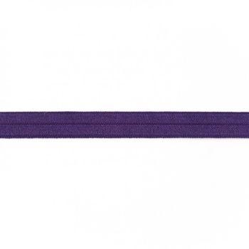 Schrägband Gummi elastisch lila 1,5cm