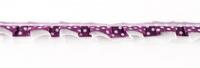 Satinband mit Organza und Punkten lila 1,9cm 001