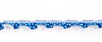 Satinband mit Organza und Punkten kobaltblau 1,9cm 001