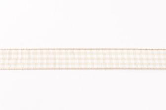 Band Zierband kariert sand Breite: 1,5cm