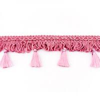 Dekoband mit Bommel rosa 5cm 001