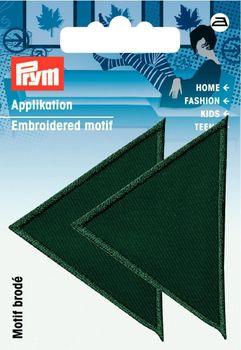 Applikation Dreieck grün 2 Stück 6x4cm