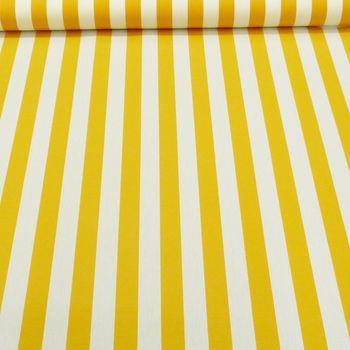 Outdoor Markisenstoff Gartenmöbelstoff Toldo Streifen gelb weiß – Bild 3