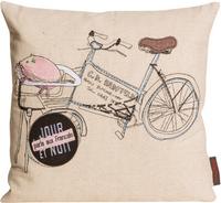 Kissen Kissenhülle TOPOLINO Fahrrad natur 40x40cm 001