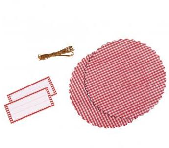 Rayher Dekoset für Marmeladenglas Karos rot weiß