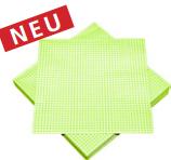 Serviette kariert grün-weiß 33x33cm 3lagig 20 Stück