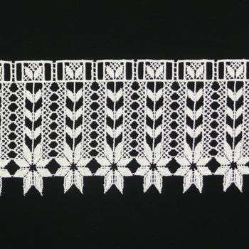 Borte Spitzenborte creme Herzen Blumen unten Meterware 18cm
