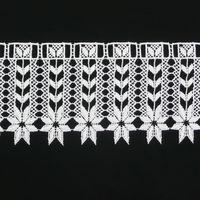 Borte Spitzenborte weiß Herzen Blumen unten Meterware 18cm 001