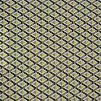 Gardinenstoff Stoff Dekostoff Meterware Geometrisches Muster gelb grau schwarz 001