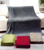 Fleece Decke Kuscheldecke Flauschdecke ABC rot 150x200cm 001