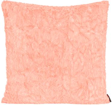 "Kissenhülle ""Fluffy"" apricot 70x70cm"