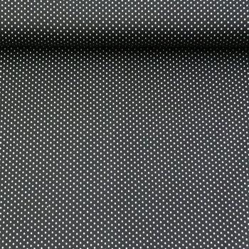 Baumwollstoff Punkte mini Ø 1mm schwarz weiß