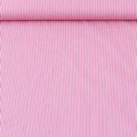 Baumwollstoff Streifen pink weiß 1,4m Breite