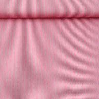 Baumwollstoff Streifen rot weiß 1,4m Breite 001